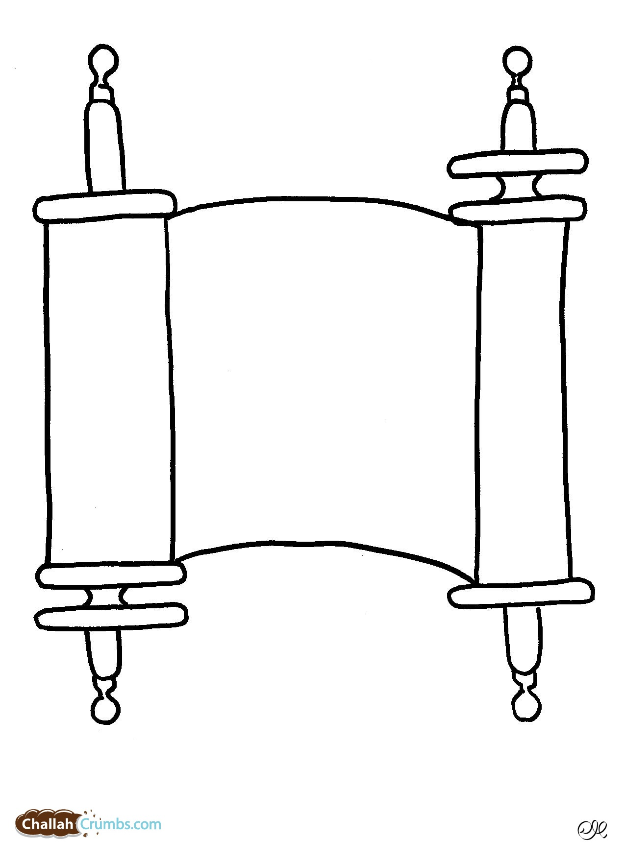 Free Coloring Pages Of Torah Scroll